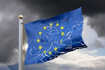 EU flag broken