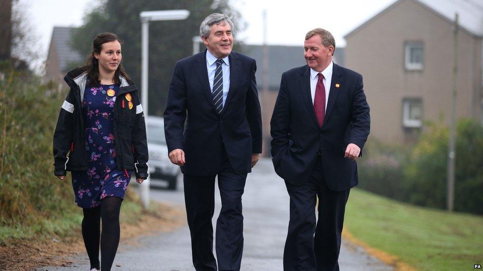 Gordon Brown Casting his vote