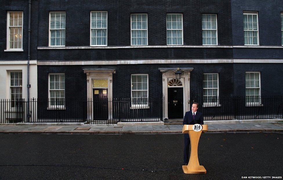David Cameron delivering his new policy