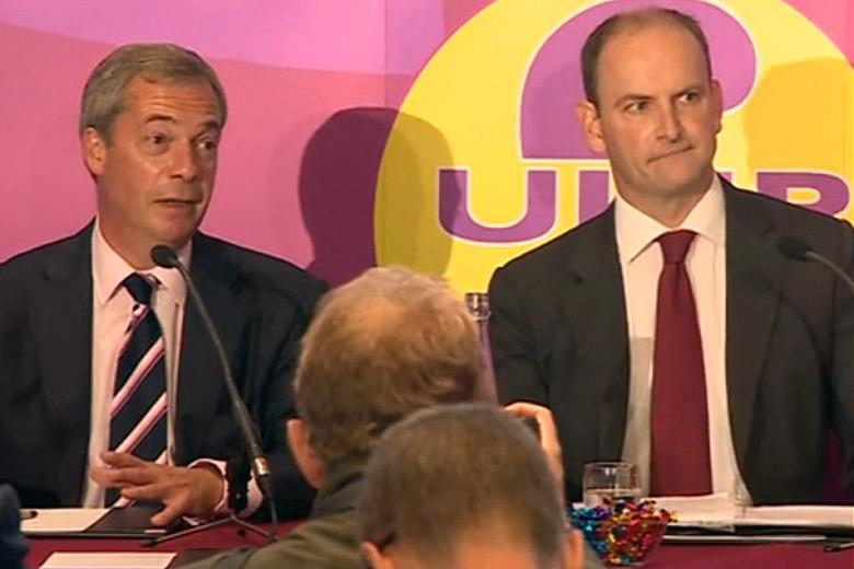 Nigel Farage with Douglas Carswell to announce defection
