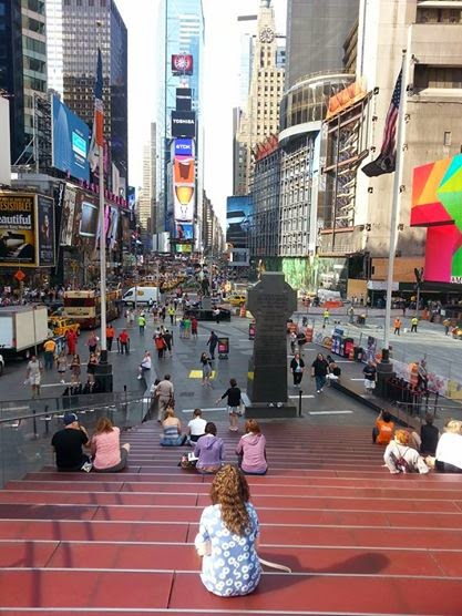 Overlooking Times Square!