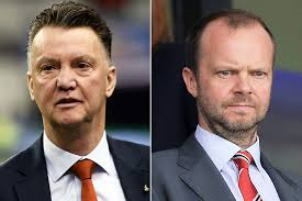 Manchester United Manager Louis Van Gaal and Executive Vice-Chairman Ed Wood