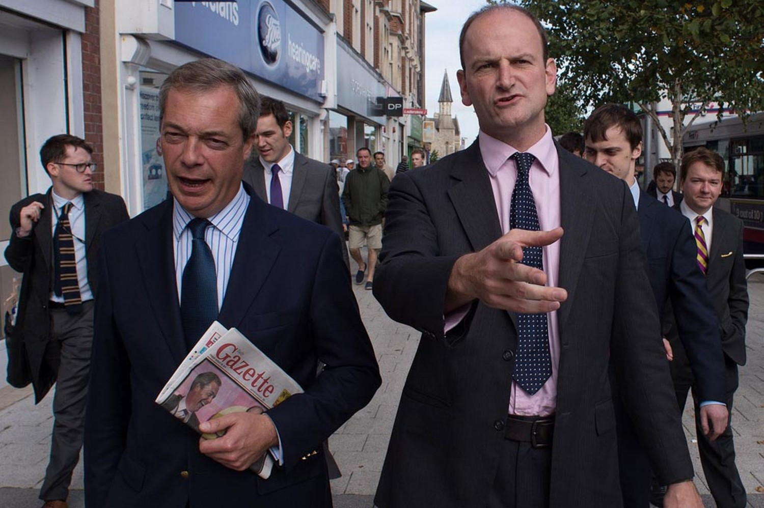UKIP-leader-Nigel-Farage-accompanies-former-Tory-MP-for-Clacton-Douglas-Carswell